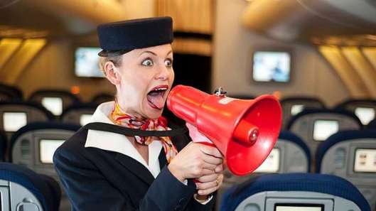 art-flight-attendant-angry-megaphone-620x349