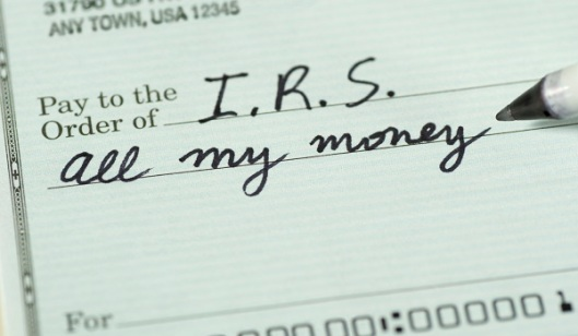 Check to Internal Revenue Service